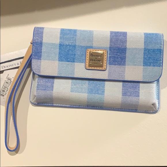 Dooney & Bourke Handbags - Dooney & Bourke Blue Quadretto Check Milly